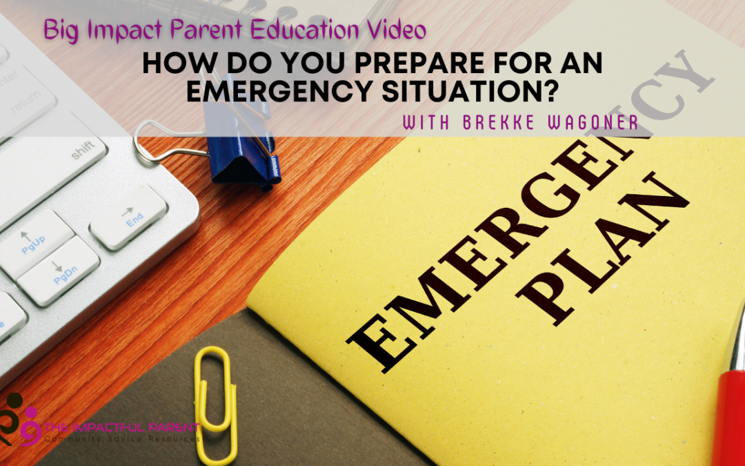 How Do You Prepare For An Emergency Situation?