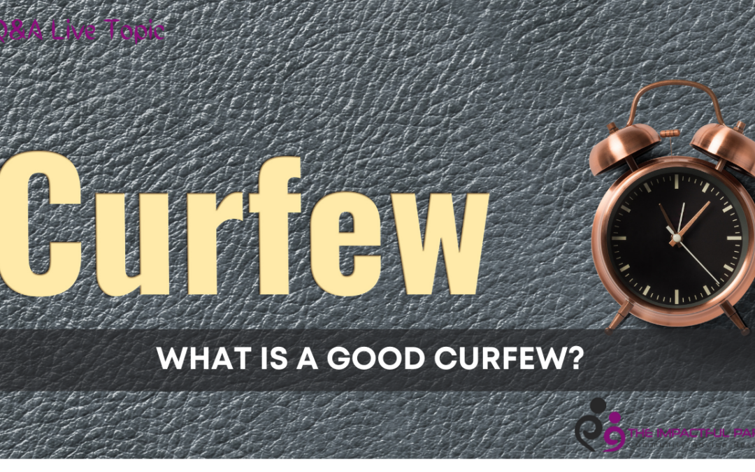 What Is A Good Curfew