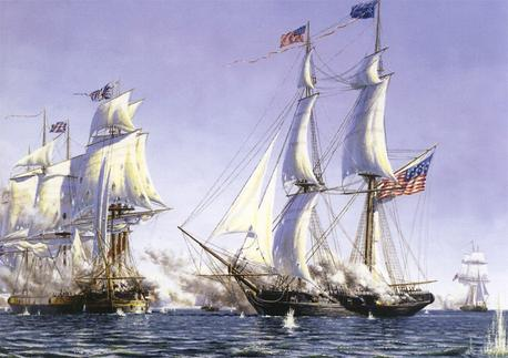 Capture of the Ships: Detroit and Caledonia