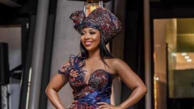 Photo of Pics! Pearl Modiadie Looks Stunning In A 3 Dresses In One Design