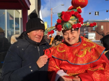At the Chinatown and Area Business Association Lunar New Year celebration in Edmonton - February 9, 2019