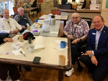 Coffee visit at the Kipnes Centre for Veterans - Sept. 22, 2017