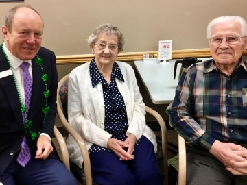 Happy-to-chat-to-Mary-and-John-Shupenia-residents-at-Beverly-Place-Lodge-attending-today's-St.-Patrick's-lunch-March-15-2019.