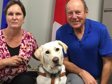 Meeting with Janet Brandy and her service dog Cooper - September 14, 2017