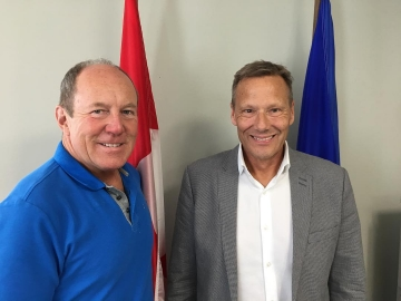 Meeting with Woody Martens of the Trimay company about the effect of new American tariffs on this local firm - August 13, 2018