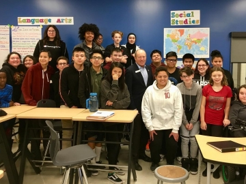 Really enjoyed talking to Grade 9 students at Ivor Dent School about MP life and answering their good questions - October 10, 2018