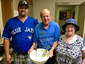 Serving at the Athlone Community League Pancake Breakfast - July 16, 2017