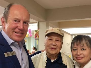 Visiting the Edmonton Chinese Seniors Lodge - Sept. 22, 2017