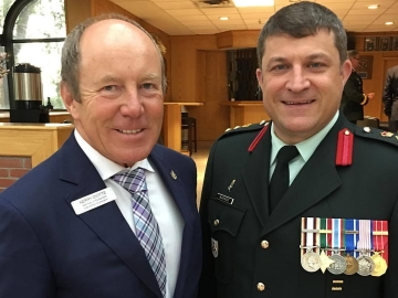 Welcoming Incoming Commander Col. Scott McKenzie at CFB Edmonton - July 31, 2017