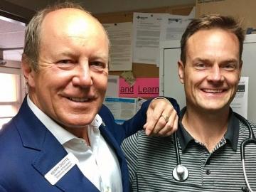 With Dr. Craig Bulawka at the Boyle McCauley Health Centre - August 8, 2017