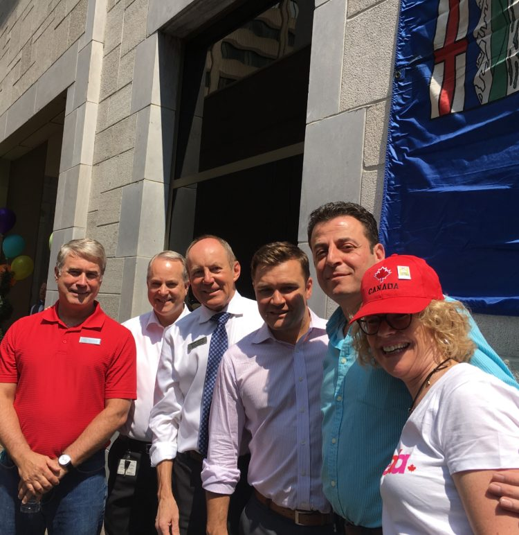BBQ Fundraiser at the Lord Elgin - Conservative Colleagues with Hotel Organizers