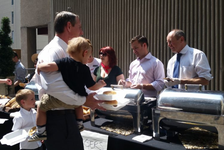 BBQ Fundraiser at the Lord Elgin - Serving Burgers