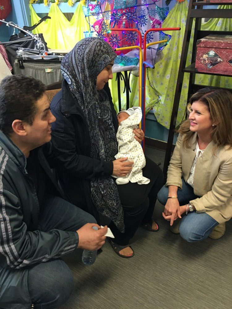 Rona Ambrose talks to Fort MacMurray fire victims in Edmonton Griesbach