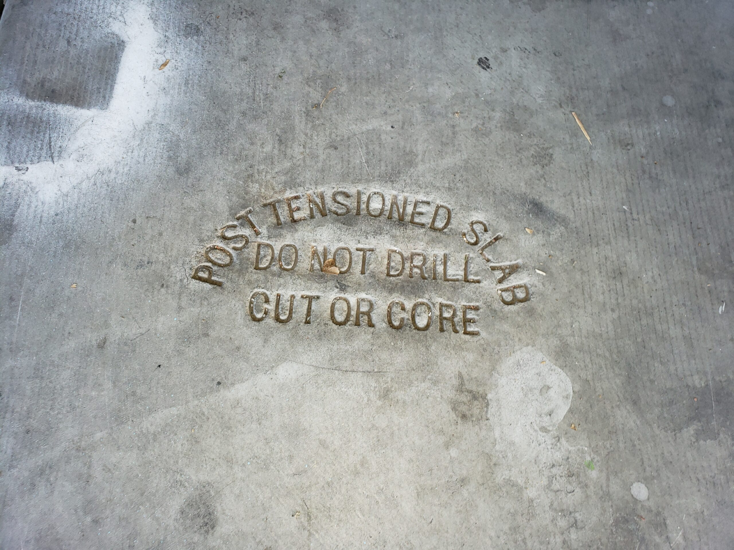 Post tension slabs aid in areas where expansive soils are present