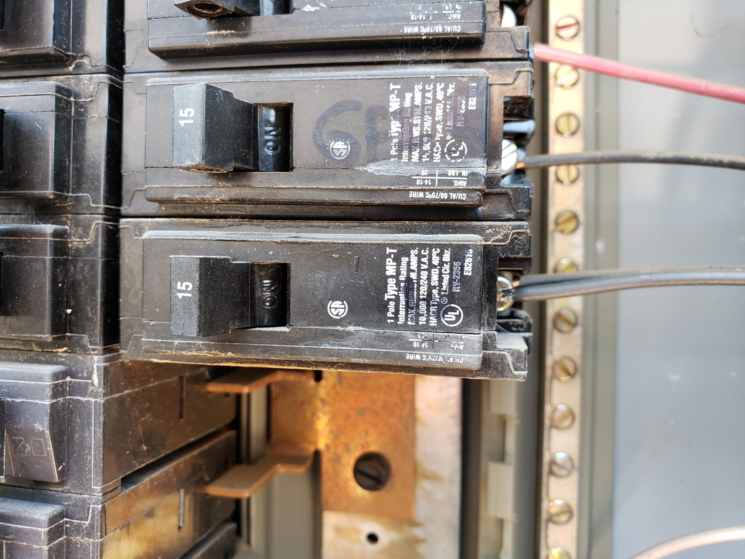 Double tap at breaker in main electrical service panel