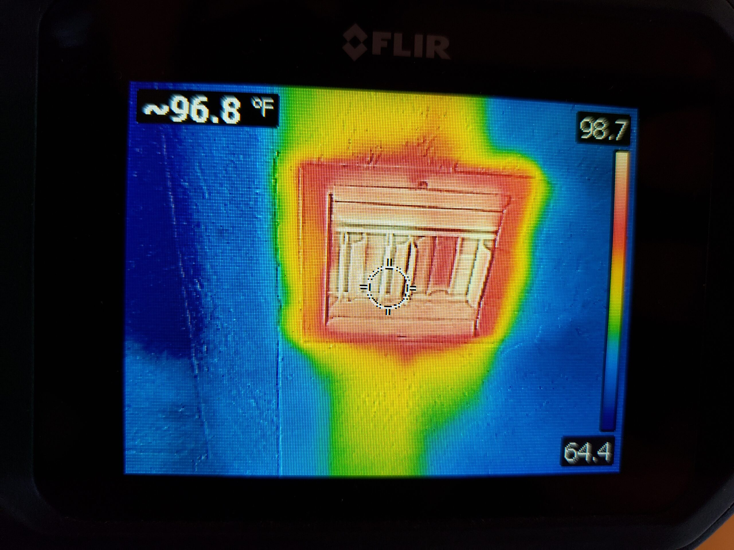 Infrared gives a visual of the home heating system