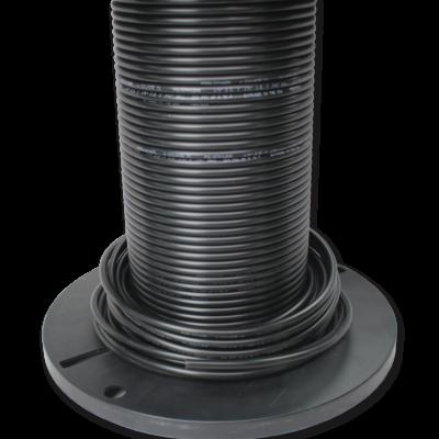 pneumatic air hose .25 black polyethylene