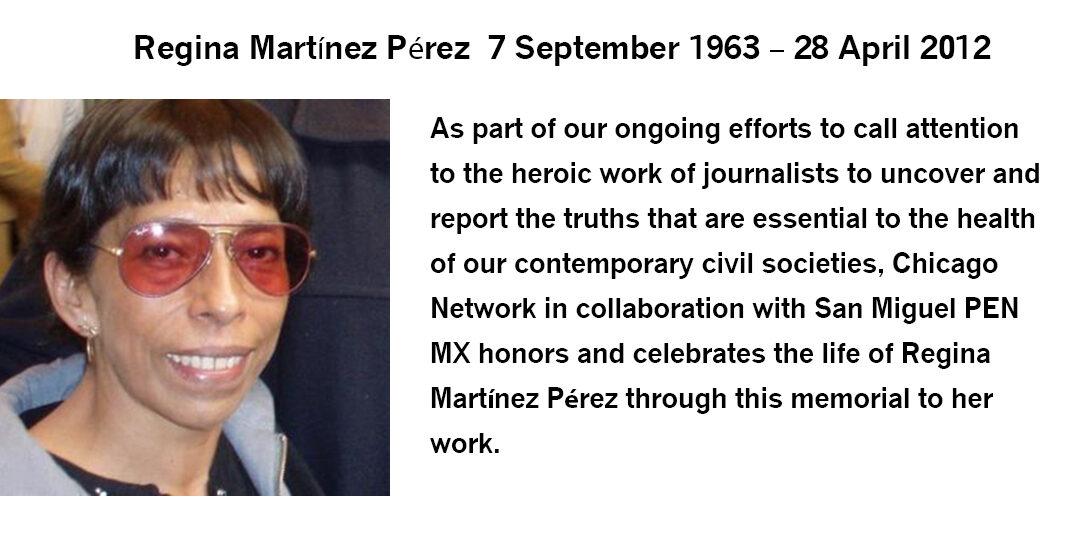 Memorial For Regina Martínez Pérez
