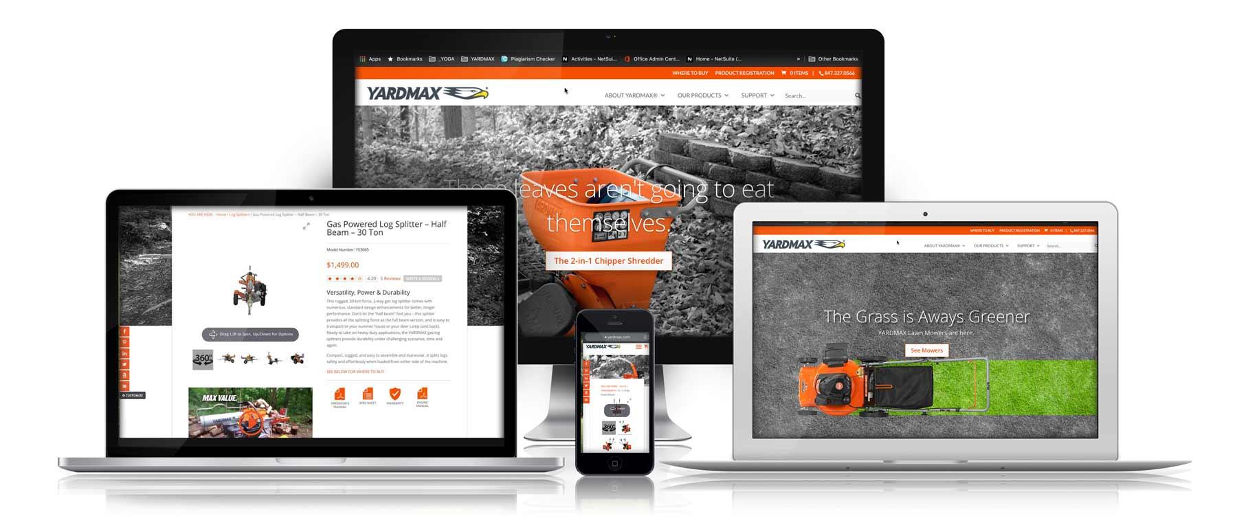 Yardmax.com screen