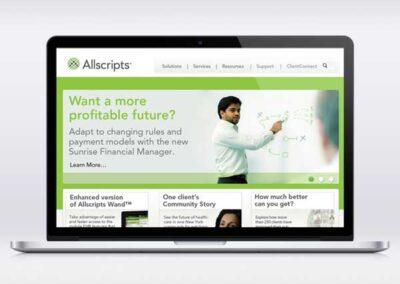Allscripts Website UI Design
