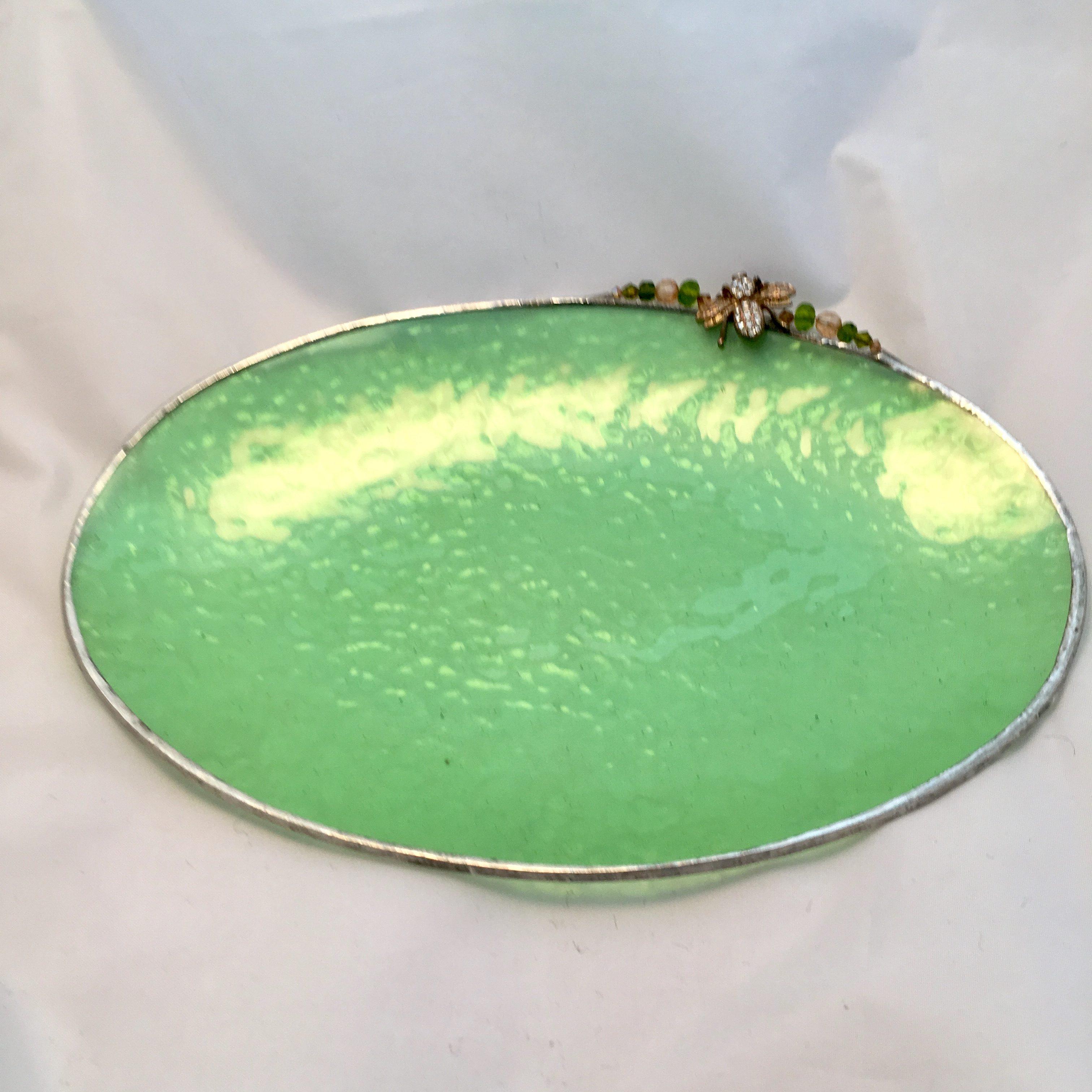 Peridot small flat oval
