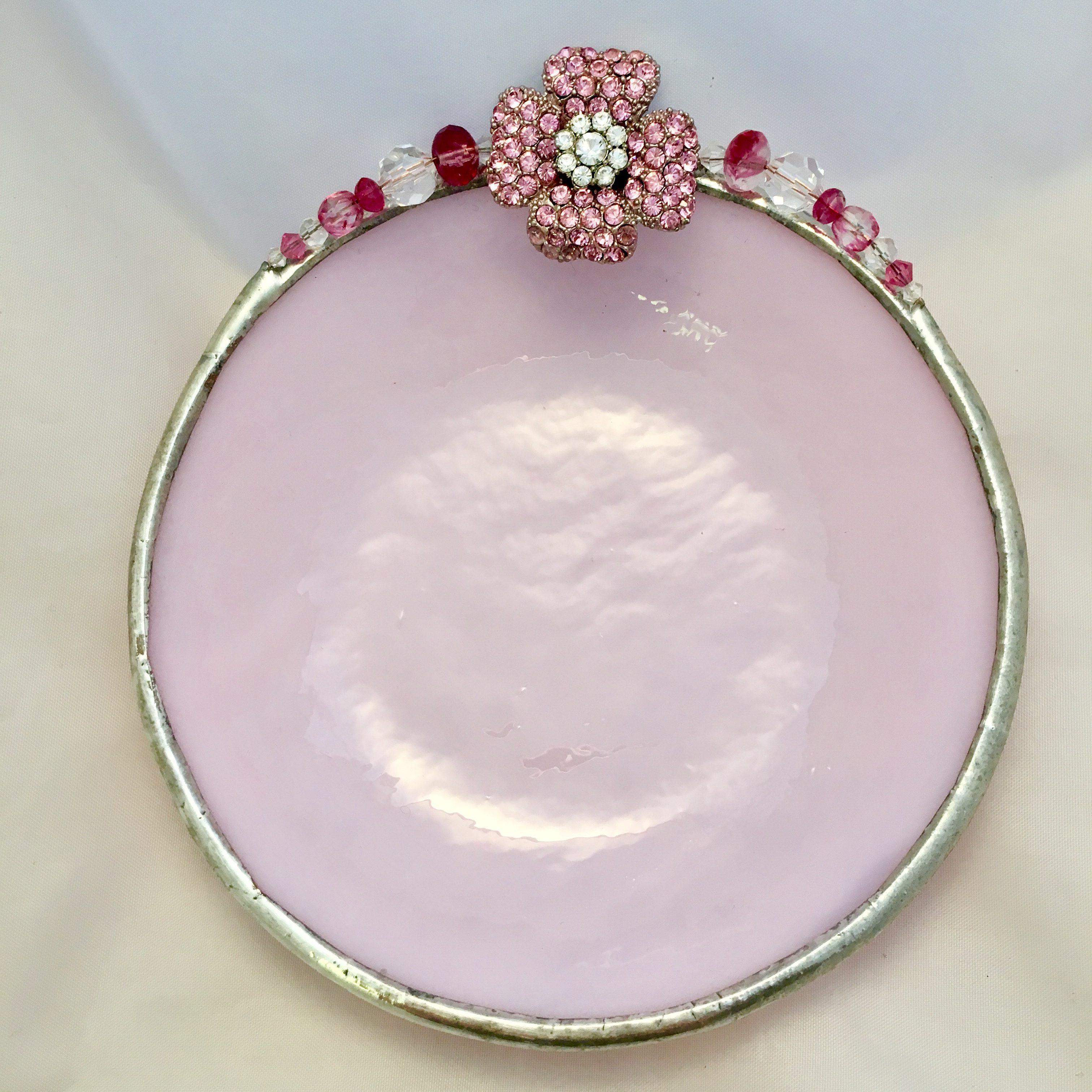 Pink jeweled rose