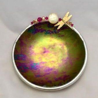 Purple iridescent Dragonfly