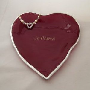 engraved red heart