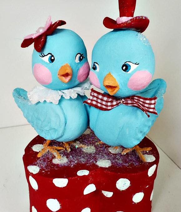 Love Birds Paper Clay  – This is a two-part class~!
