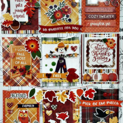Mad For Plaid Fall Pocket Letters