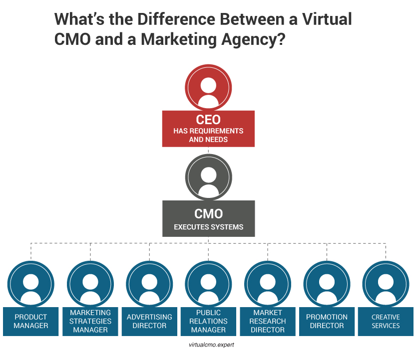 Difference Between A Virtual CMO and A Marketing Agency