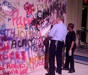 Standard and Electronic Graffiti Wall