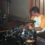 Rich on drums with Code3 (My Air Force Buddies)