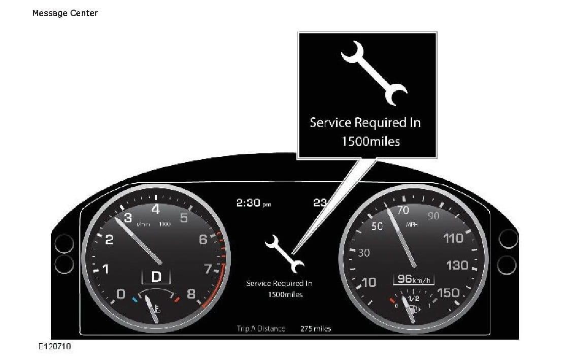 Range Rover Service Required message reset at British Autoworks.