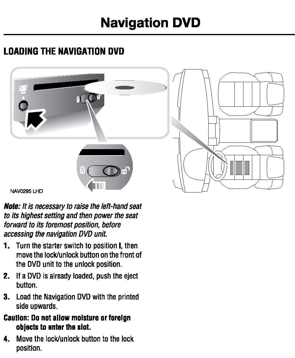 Range Rover Navigation Update Procedure