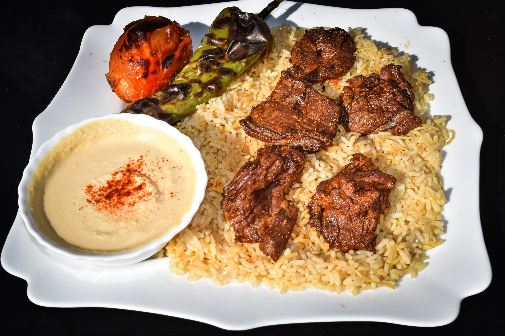 Beef Steak Kebab Plate