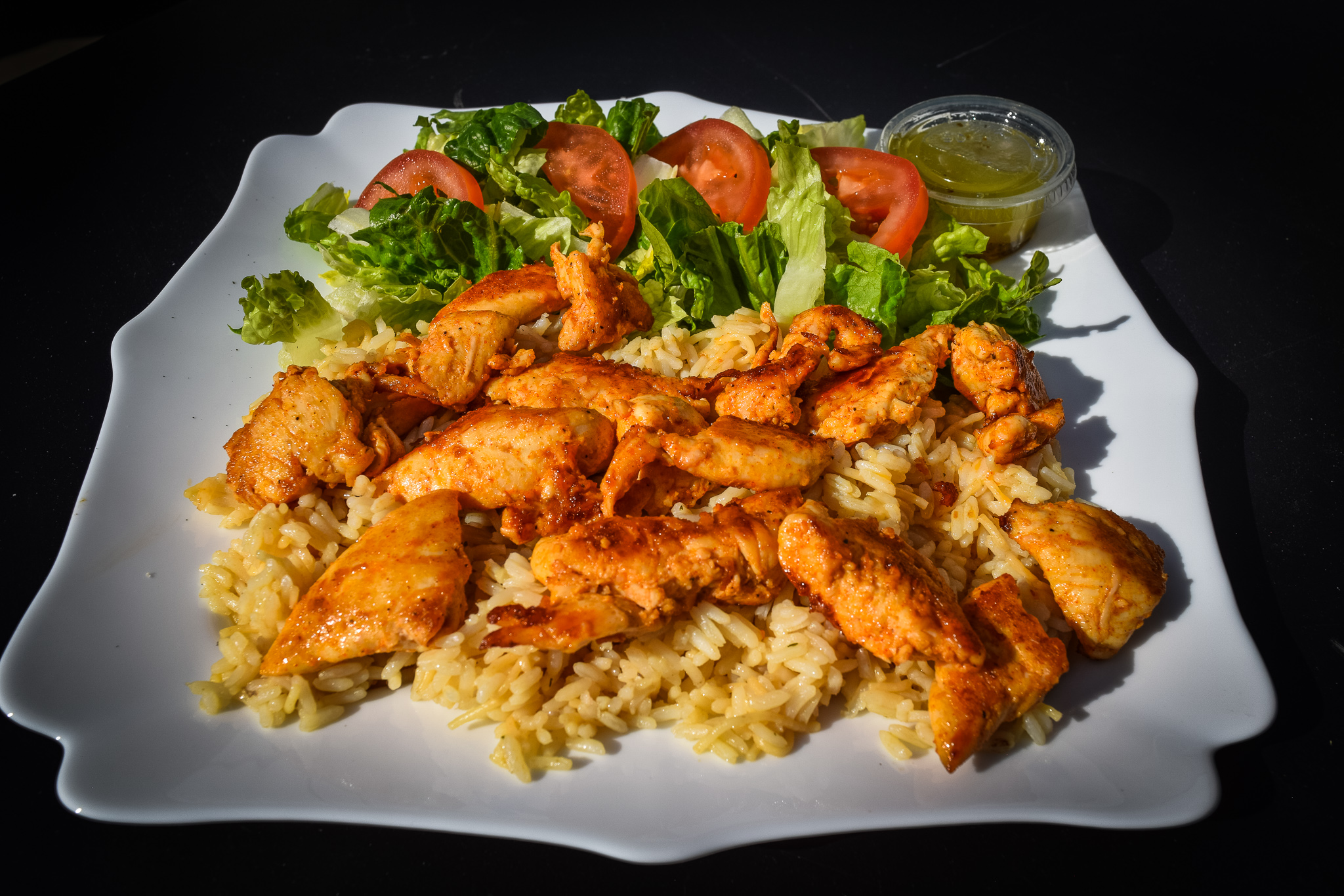 Grilled Chicken Breast Strips Plate