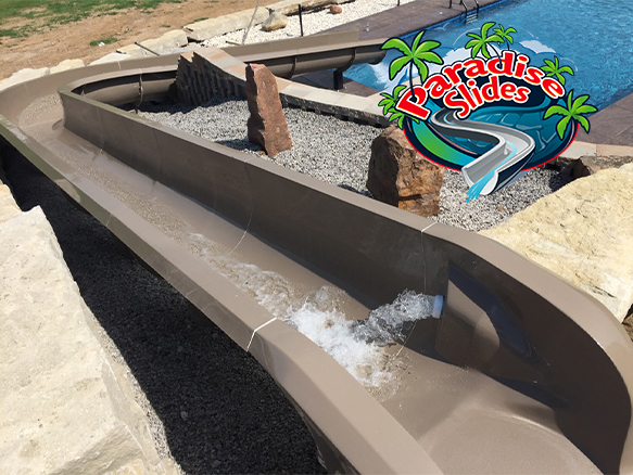 Model PS48R-S in Cafe (Color Replaced by Clay) install by Blue Paradise Pools, MO