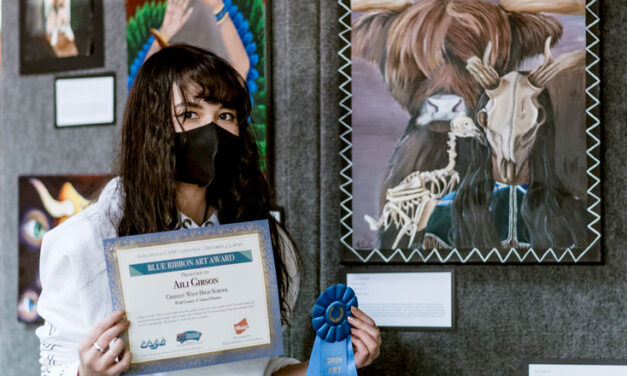 Greeley West Student wins award for art