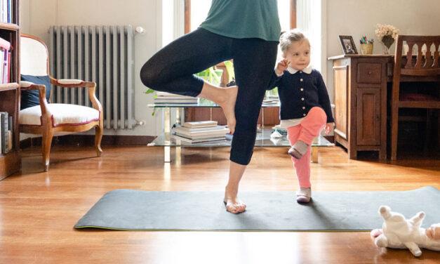 Family yoga time
