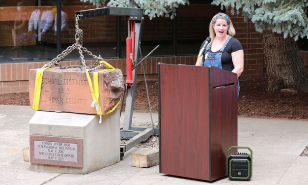 What was found in the Lincoln Middle School time capsule?