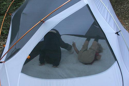 A little two in tents. Get it? Get it?