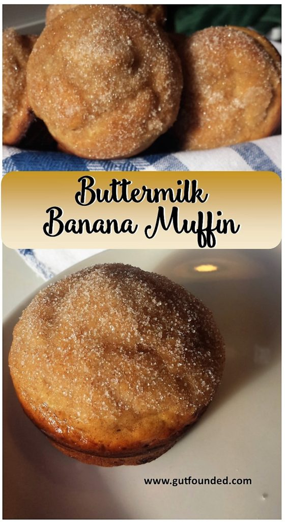 muffin, banana, buttermilk, sugar, cinnamon