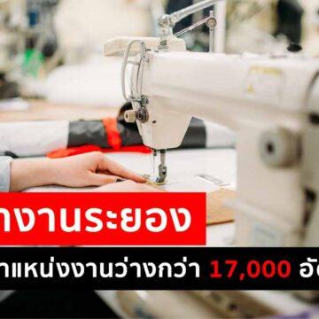 จัดหางานระยอง เตรียมตำแหน่งงานว่างกว่า 17,000 อัตรา รองรับผู้ได้รับผลกระทบจากโควิด-19