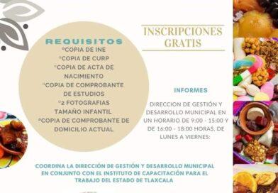 Invita ayuntamiento de Tetlanohcan a cursos para elaborar dulces típicos