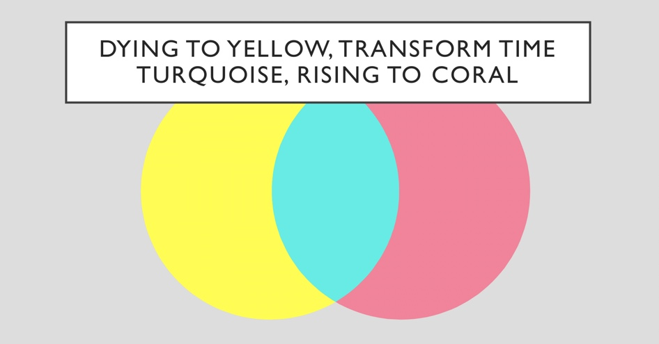 Yellow through Turquoise to Coral
