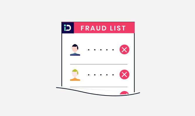 Transaction in fraud list