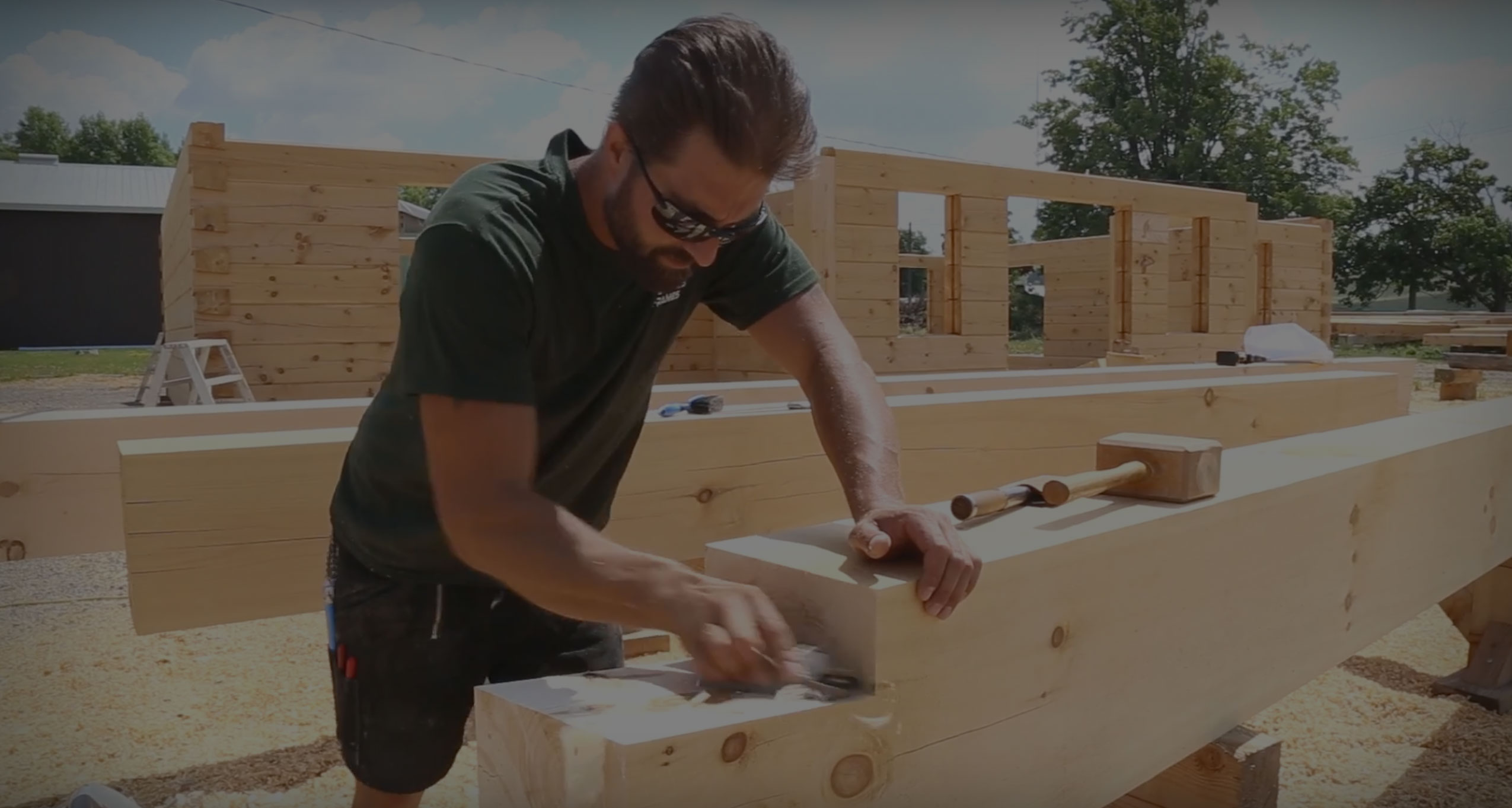 How To Build A Log Home: Dovetail Joinery