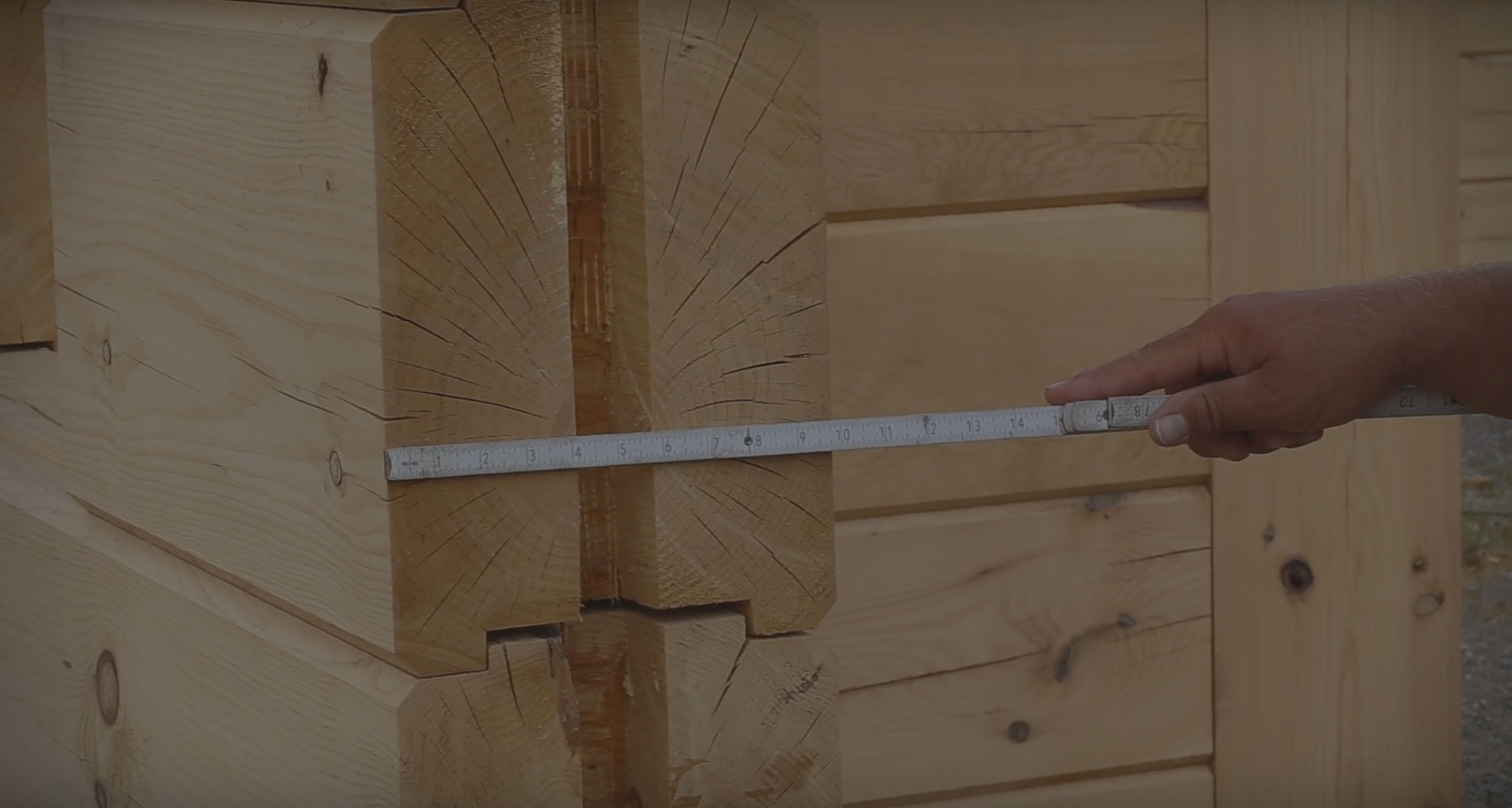 How To Build A Log Home: White Pine Timber