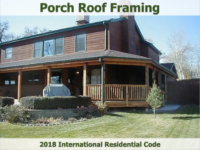 Porch Roof Framing